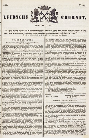 Leydse Courant 1877-04-21