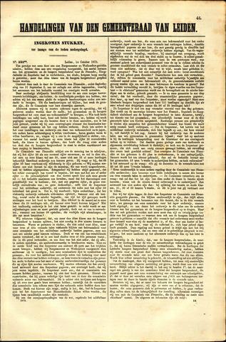 Handelingen van de Raad 1873-10-14