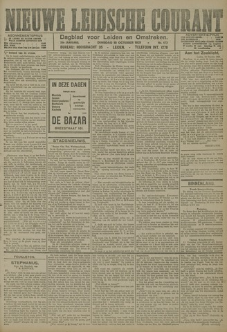 Nieuwe Leidsche Courant 1921-10-18