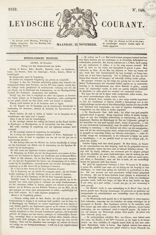 Leydse Courant 1852-11-22