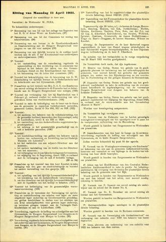 Handelingen van de Raad 1921-04-11