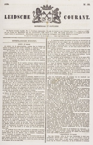 Leydse Courant 1876-01-27