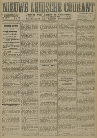 Nieuwe Leidsche Courant 1923-01-12