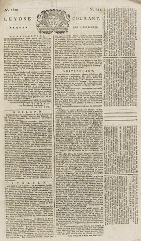 Leydse Courant 1820-09-15