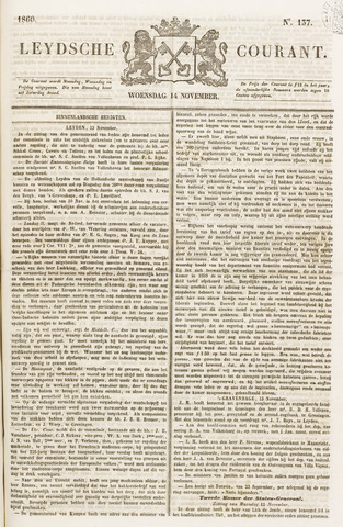 Leydse Courant 1860-11-14