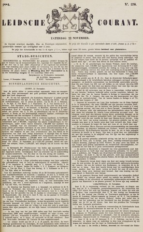 Leydse Courant 1884-11-22