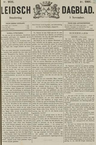 Leidsch Dagblad 1868-11-05