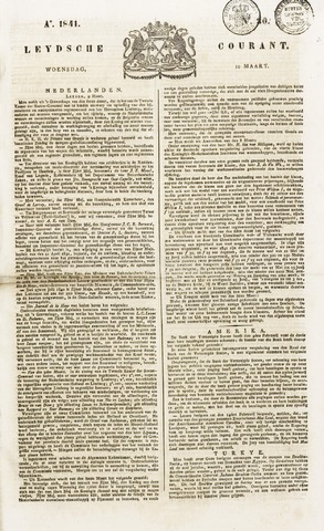 Leydse Courant 1841-03-10