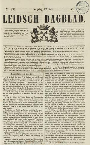 Leidsch Dagblad 1863-05-22