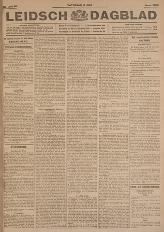 Leidsch Dagblad 1926-07-03