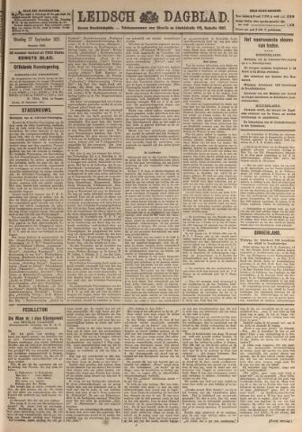 Leidsch Dagblad 1921-09-27