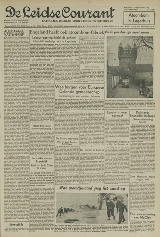 Leidse Courant 1952-02-27