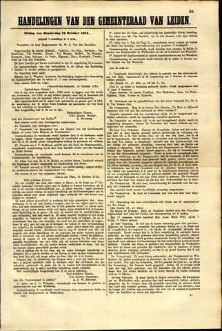 Handelingen van de Raad 1874-10-22