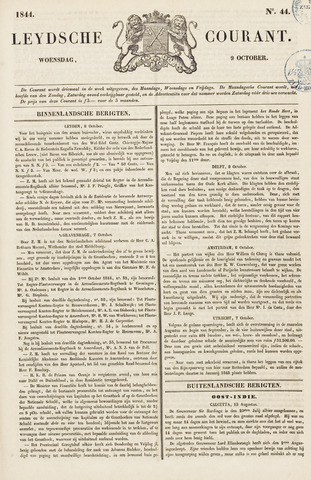 Leydse Courant 1844-10-09