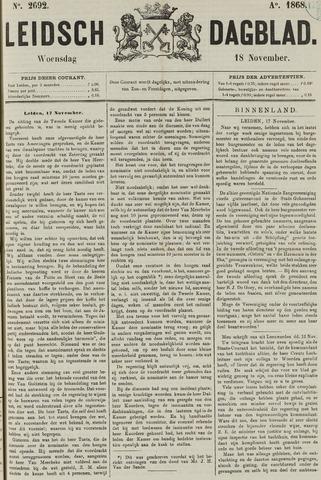 Leidsch Dagblad 1868-11-18