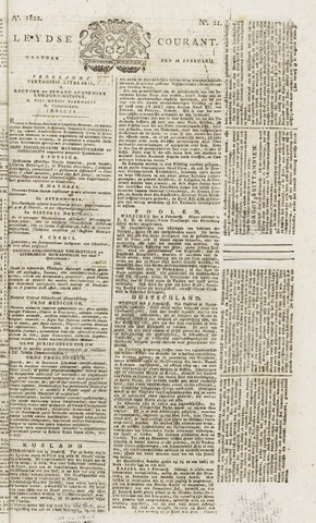 Leydse Courant 1822-02-18