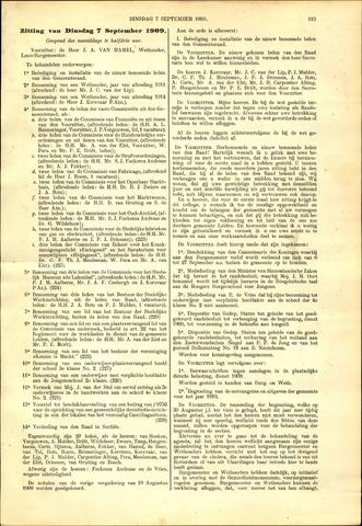 Handelingen van de Raad 1909-09-07