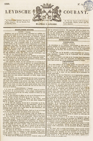 Leydse Courant 1860-01-09