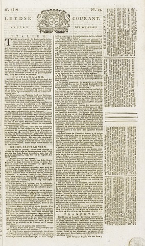 Leydse Courant 1819-01-29