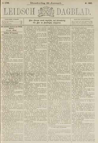 Leidsch Dagblad 1892-01-21