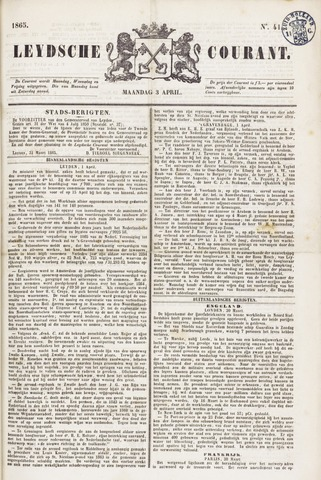 Leydse Courant 1865-04-03