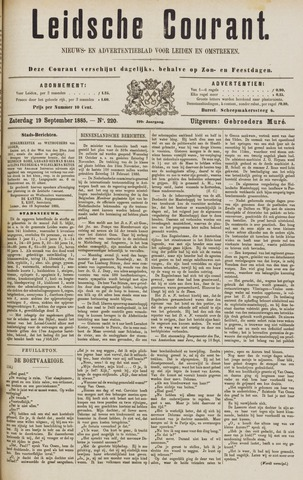 Leydse Courant 1885-09-19