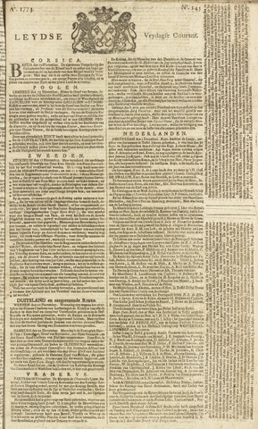 Leydse Courant 1773-12-03