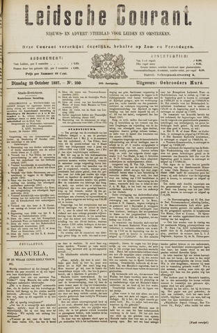 Leydse Courant 1887-10-25