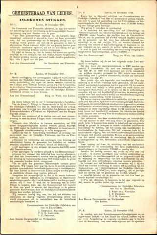 Handelingen van de Raad 1911-12-18
