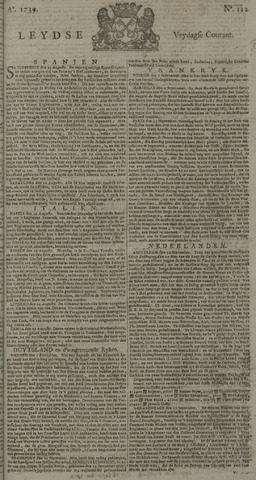 Leydse Courant 1739-09-18
