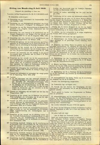 Handelingen van de Raad 1919-07-03