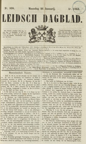 Leidsch Dagblad 1863-01-26