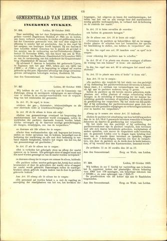 Handelingen van de Raad 1903-10-20