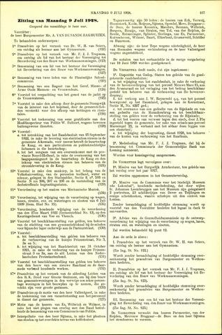 Handelingen van de Raad 1928-07-09