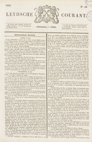 Leydse Courant 1852-04-07