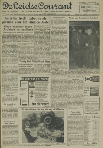 Leidse Courant 1958-08-07