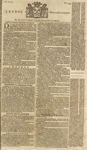 Leydse Courant 1773-11-29
