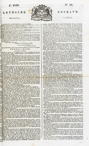 Leydse Courant 1843-04-10