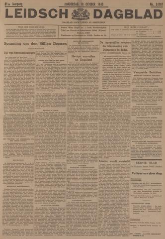 Leidsch Dagblad 1940-10-10