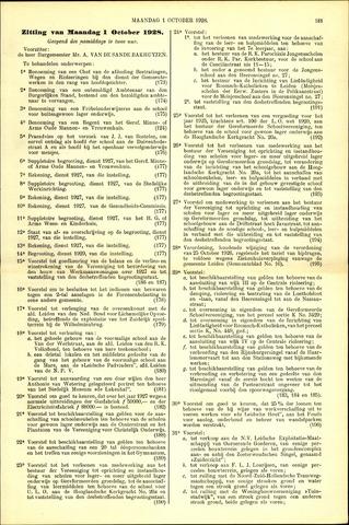 Handelingen van de Raad 1928-10-01