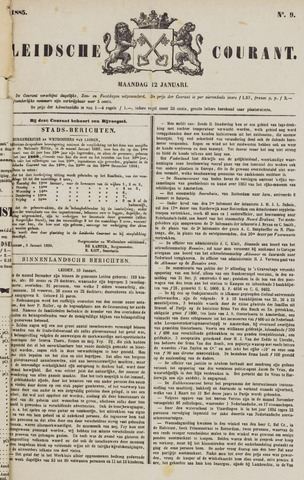 Leydse Courant 1885-01-12