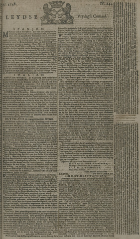 Leydse Courant 1748-11-29