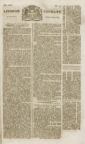 Leydse Courant 1826-01-23