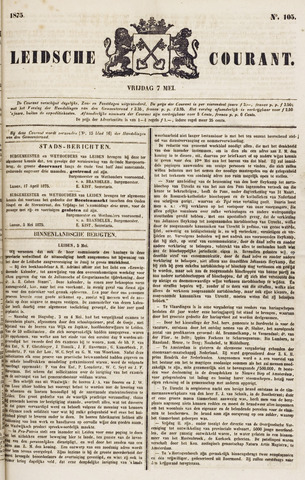 Leydse Courant 1875-05-07