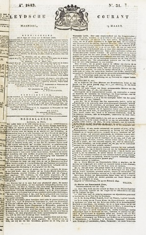 Leydse Courant 1843-03-13