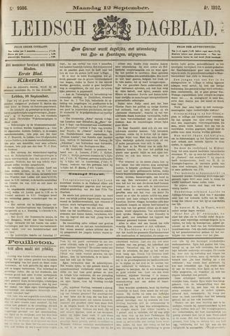Leidsch Dagblad 1892-09-12