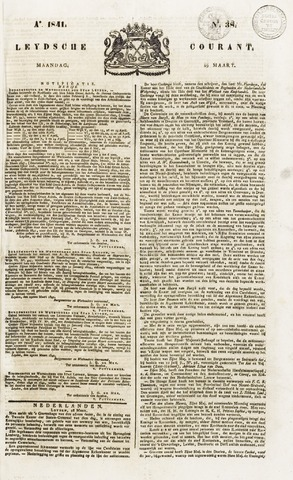 Leydse Courant 1841-03-29