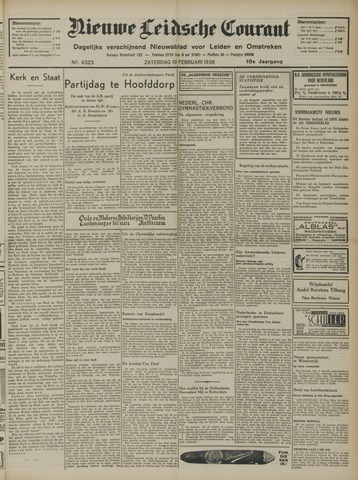 Nieuwe Leidsche Courant 1938-02-19