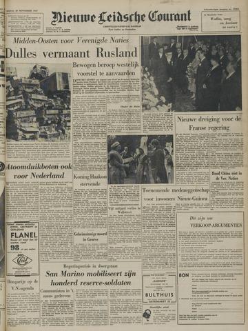 Nieuwe Leidsche Courant 1957-09-20
