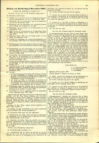 Handelingen van de Raad 1907-12-05